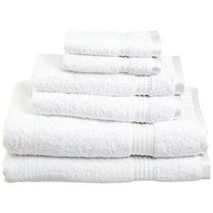 Superior Egyptian Cotton 6-Piece Towel Set, White 主图