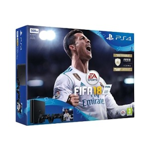 SONY 索尼 PlayStation 4 Slim 500GB 双手柄《FIFA18》同捆版游戏主机 主图