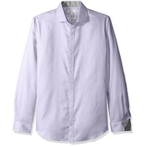 Calvin Klein Mens Dobby Twill Infinite Cool Long Sleeve Button Down Shirt 主图