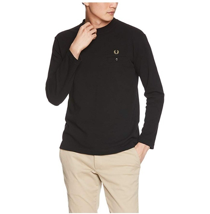 _fred perry 佛莱德·派瑞 pique l/s 男士长袖t恤衫