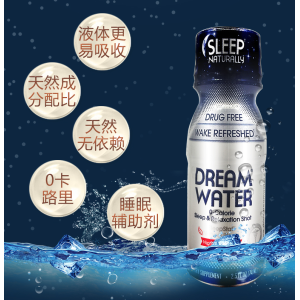 Dream Water 睡眠水 天然助眠褪黑素饮料 74ml*12瓶 主图