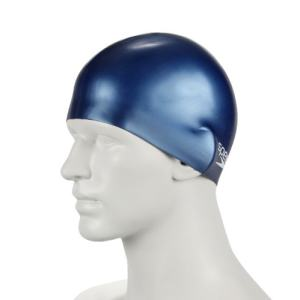 Speedo 速比涛 青少年 泳帽 Junior Plain Moulded Silicone Cap 8-709900011 海蓝 均码 主图