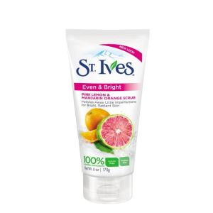 St.Ives 圣艾芙  Even & Bright Pink Lemon & Mandarin Orange 柠檬柑橘 面膜磨砂膏 170g 主图